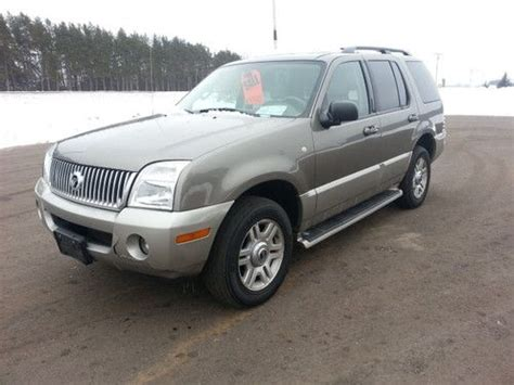 auto air conditioning repair 2003 mercury mountaineer seat position control purchase new no reserve 2003 mercury mountaineer awd in isanti minnesota united states