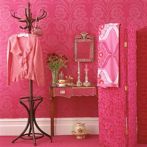 victoria secret bedroom wallpaper pink dressing room with patterned wallpaper screen and