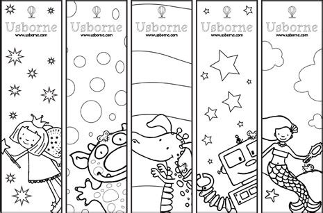 Usborne Printable Bookmarks | usborne bookmarks and bookplates to print out and colour