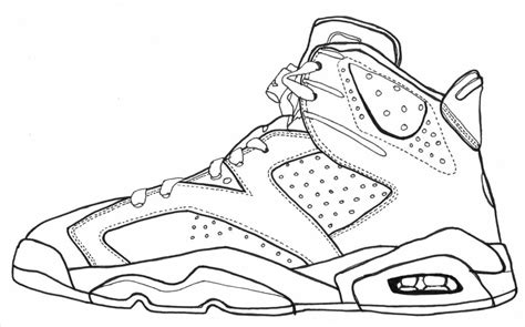 jordan shoes coloring pages snap cara org