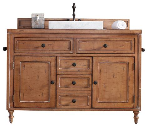 bathroom vanity wood top copper cove 48 quot driftwood patina single vanity with wood