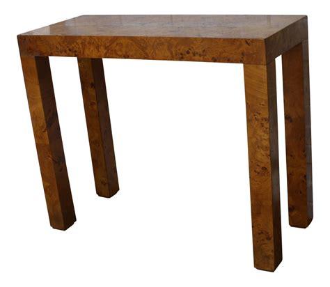 burl wood console table vintage parsons burl wood console table chairish