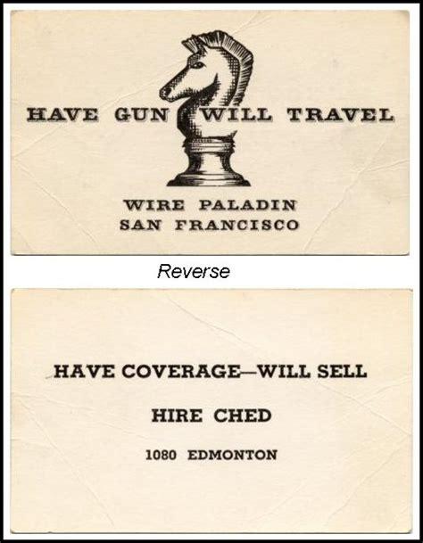 paladin business card template gun will travel business card images business card