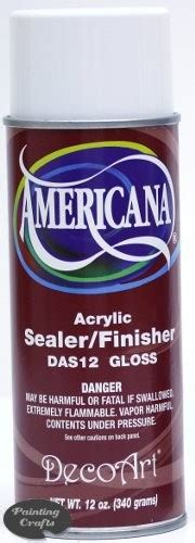 acrylic paint flammable deco acrylic sealer finisher 12 oz gloss spray