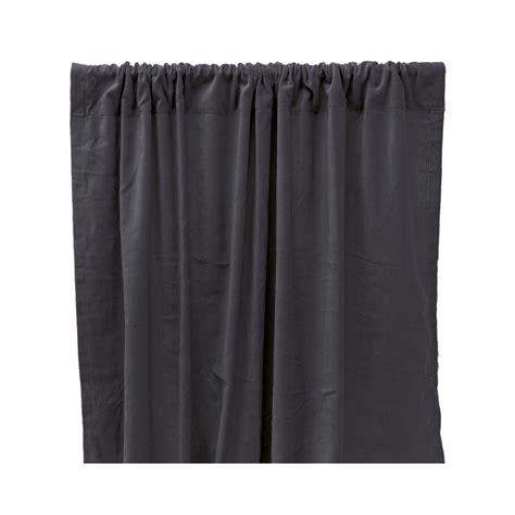 verdunkelnde vorhang aus baumwolle velours grau liv interior - Vorhang Grau Baumwolle