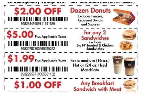 dunkin donuts coupons 3.99 half dozen
