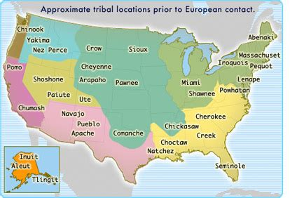 american tribes map fakhoury7thhistory americans
