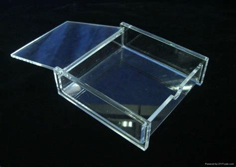 Acrilix Box Can Be Assembled acrylic memo box can be used for note holding sp001 shining point china manufacturer