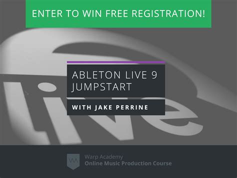 Free Sweepstakes Entries - enter to win free registration to ableton live 9 jumpstart
