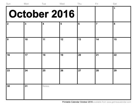 printable calendar october 2016 2013 printable calendar by month search results