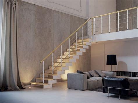 scale per interni rintal scala a giorno rettilinea in acciaio e legno composity