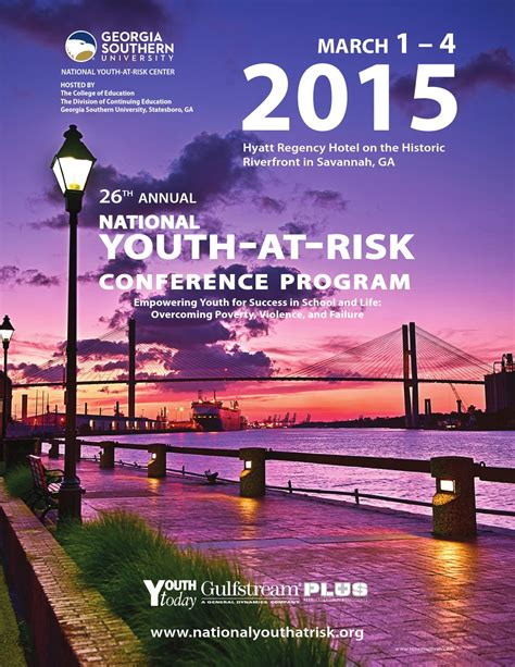 georgia southern youth at risk conference national youth at risk conference program 2015 by barbara