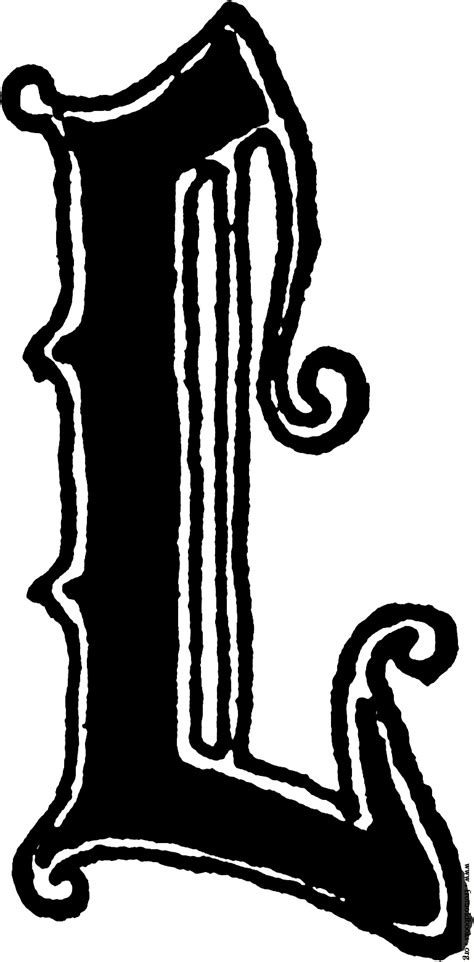L Styles by Calligraphic Letter L In 15th Century Style