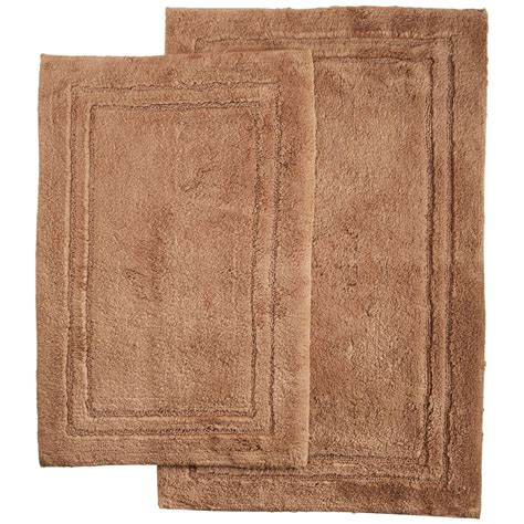 cotton bathroom rugs 2 piece luxurious cotton bath rug set with non slip