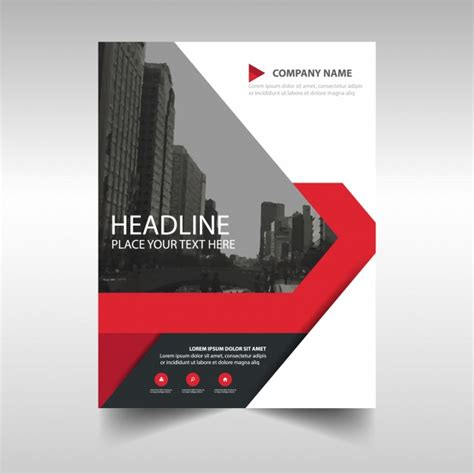 layout majalah cdr red creative annual report template vector free download