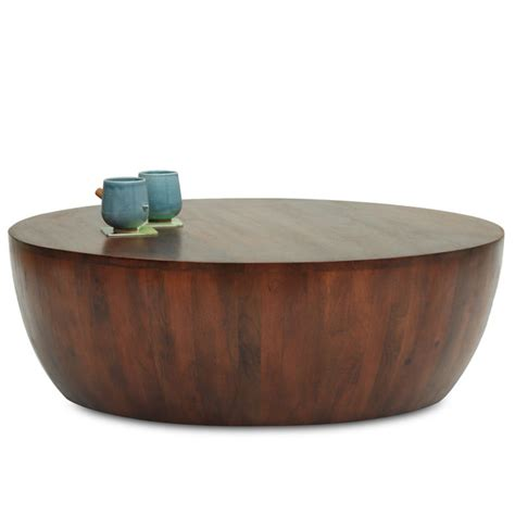 wood drum coffee table drum coffee table thearmchair