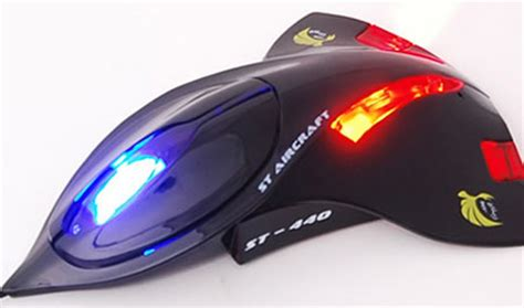aircraft computer mouse with led lights