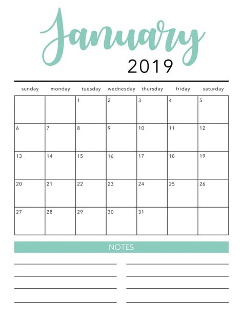 Free 2019 Printable Calendar Template 2 Colors I Heart Naptime Free Downloadable Calendar Template