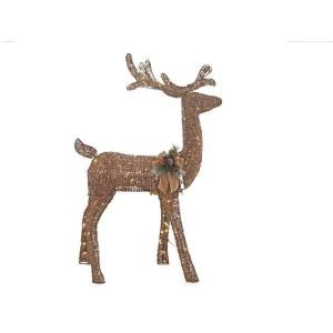 grapevine animated lighted deer home accents 5 ft pre lit grapevine animated standing deer ty454 1511 0 the home depot
