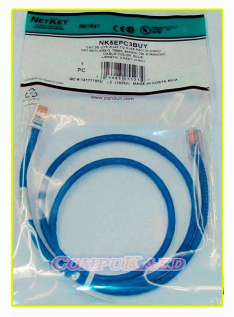 Patch Cord Panduit cable de patch cord cat5e panduit azul blanco 3 5 7