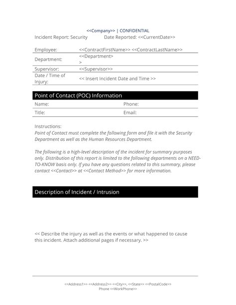 it security breach report template security breach report form