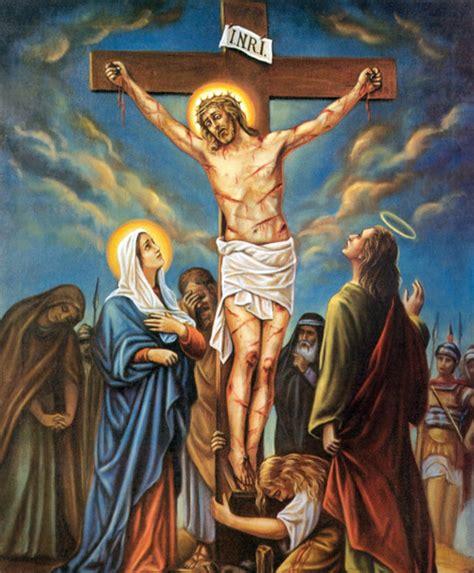 imagenes de la virgen maria en el viacrucis via crucis dodicesima stazione