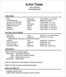 actors resume template 10 acting resume templates free