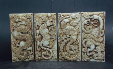 jade book chinese animal  dragon white tiger