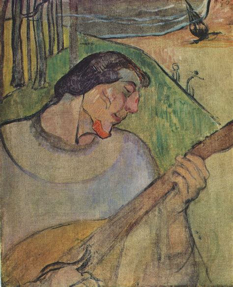 gauguin by himself epph gauguin s self portrait with a mandolin 1889 and the player schneklud 1894