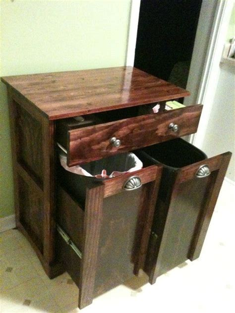 Trash And Recycling Cabinet Combo Home Home