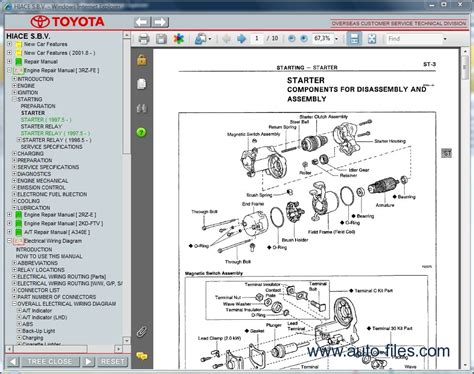 auto repair manual free download 1999 toyota corolla parental controls toyota hiace s b v repair manuals download wiring diagram electronic parts catalog epc
