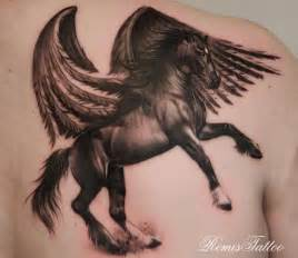 horse with wings tattoo on back of shoulder tattoobite com