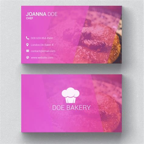 Bakery Business Card Template Psd File Free Download Bakery Business Card Template