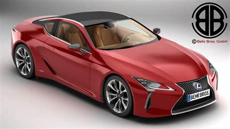 lexus models lexus lc 500 us hybrid 2018 3d model buy lexus lc 500 us