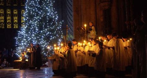 durham cathedral s christmas tree lights switched on the
