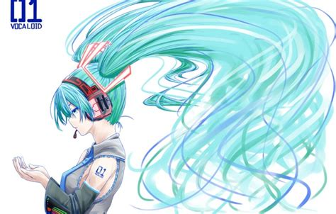 hatsune miku anime girl with headphones wallpaper omaru09 tie hatsune miku vocaloid art