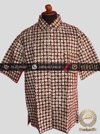 Kemeja Batik Sogan Kawung jual kemeja batik jogja motif kawung sen thebatik co id