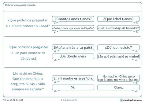 preguntas a familiares en ingles ficha de respuestas y preguntas para primaria