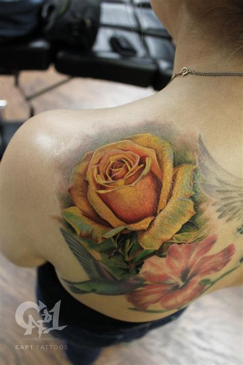yellow rose of texas tattoo yellow by capone tattoos