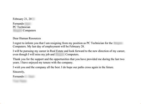 2 weeks notice letter to quit a business templated business templated