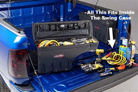 swing case truck bed tool box undercover swing case truck toolbox read reviews free