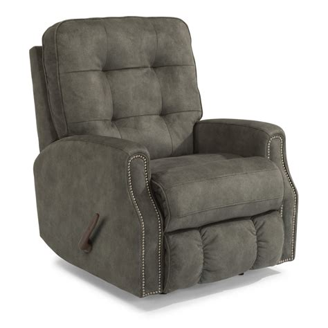 Nailhead Recliner by Flexsteel 2881 51 Fabric Rocking Recliner With