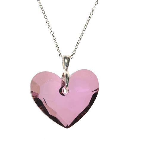 truly in swarovski pink pendant jewelry