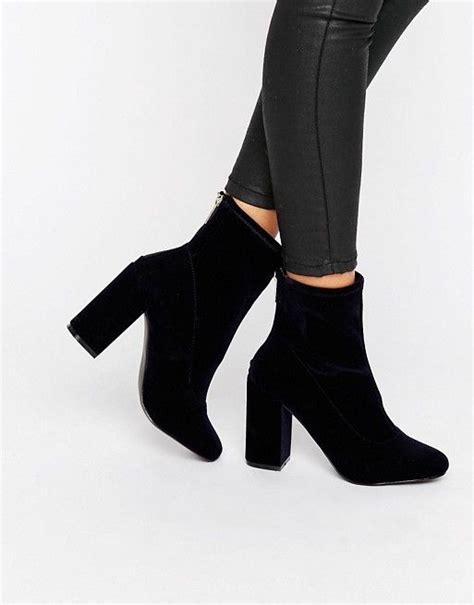 sock boots miss selfridge miss selfridge velvet sock boot tacones zapatos y botas