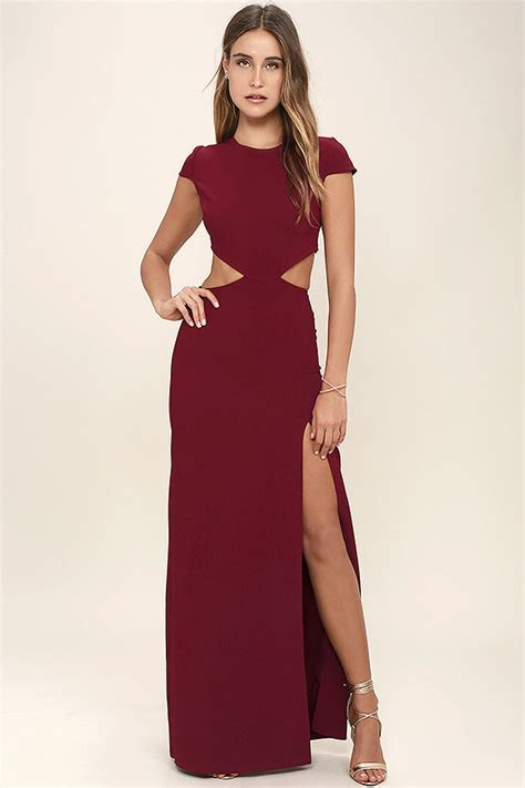 lulu s sexy wine red dress maxi dress cutout dress backless