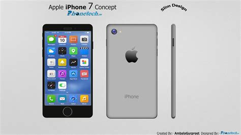 iphone 7 concept design youtube apple iphone 7 concept slim design by ambalagurpreet on