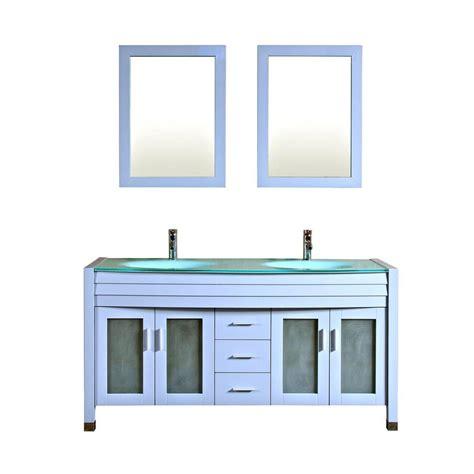 Blue Vanity Top by Kokols Amriel 63 In Vanity In Blue Grey With Glass