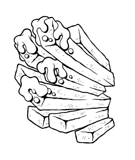 junk food fries coloring page for