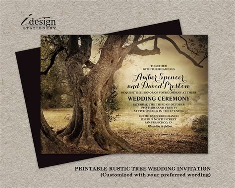 wedding invitations tree theme 343 best images about printable wedding invitations and