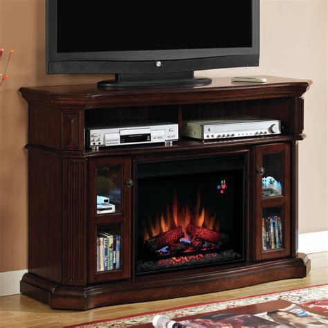 classic tv stand with electric fireplace